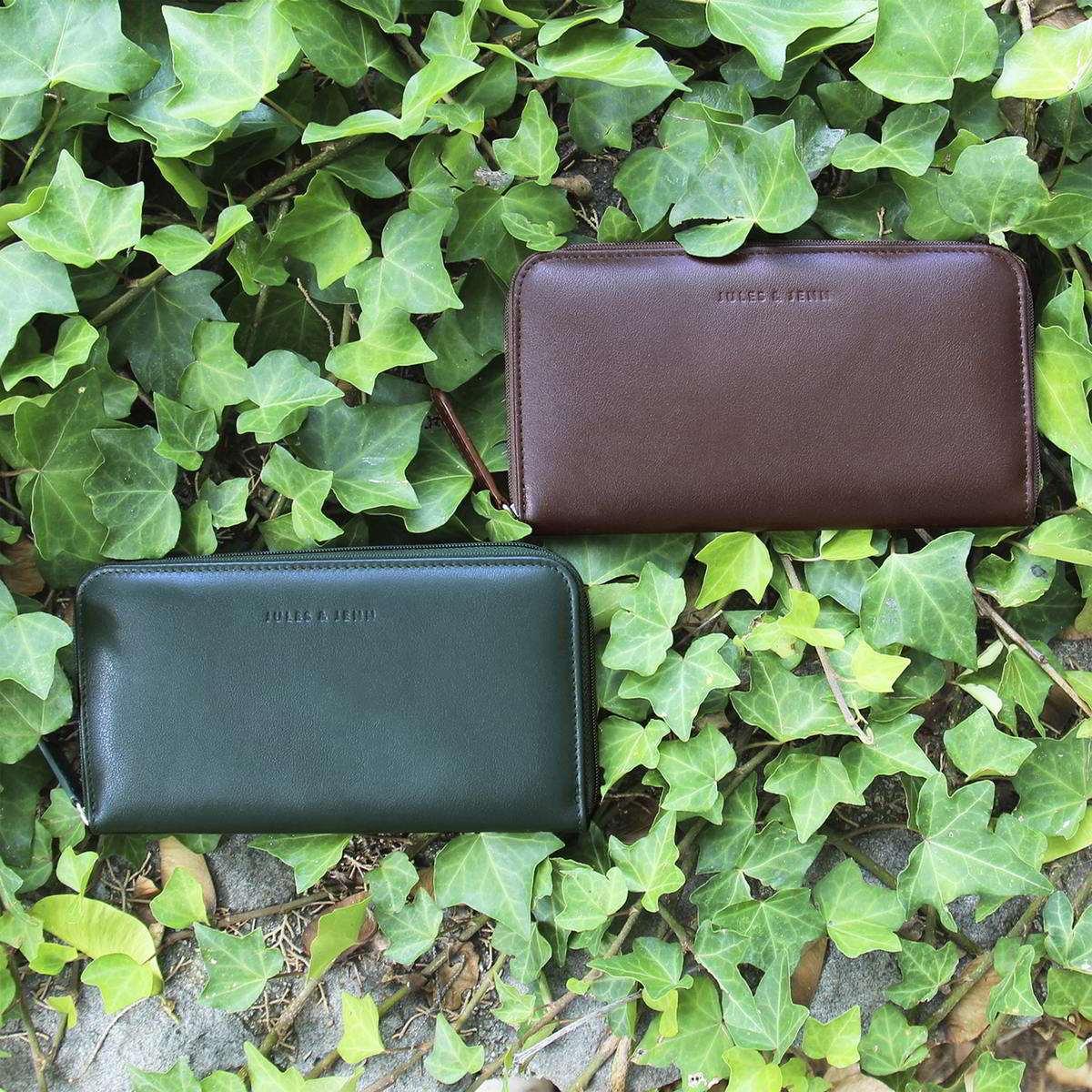 Jules and Jenn - compagnon marron & vert