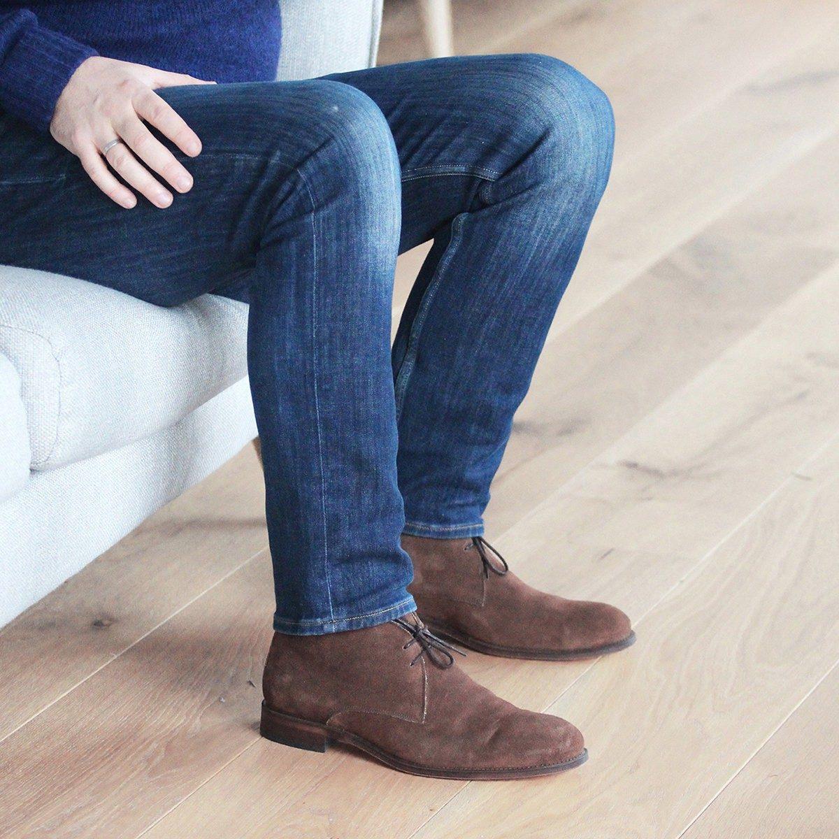 JULES & JENN - desert - boots - cuir - daim - marron