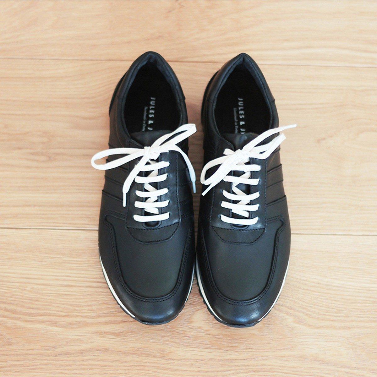 JULES & JENN - sneakers - cuir - noir