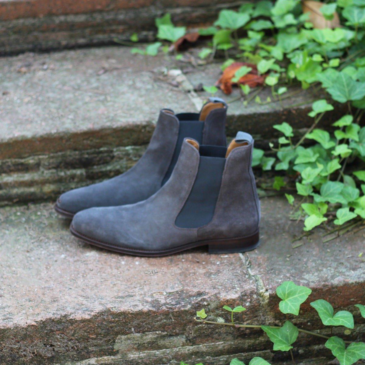JULES & JENN - chelsea boots daim gris