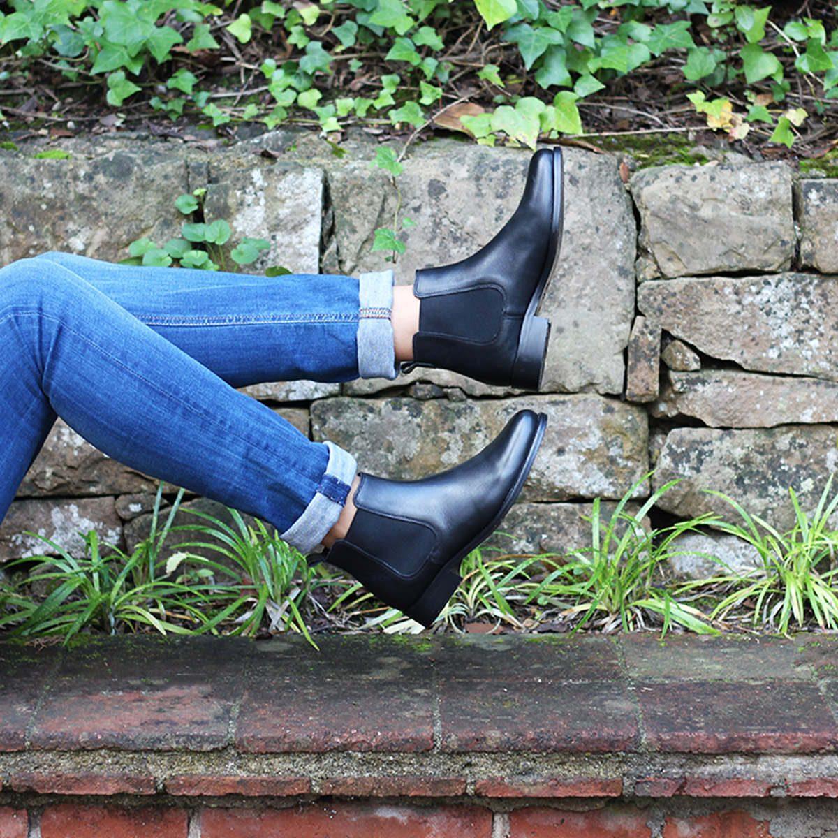 JULES & JENN - chelsea boots noir cuir