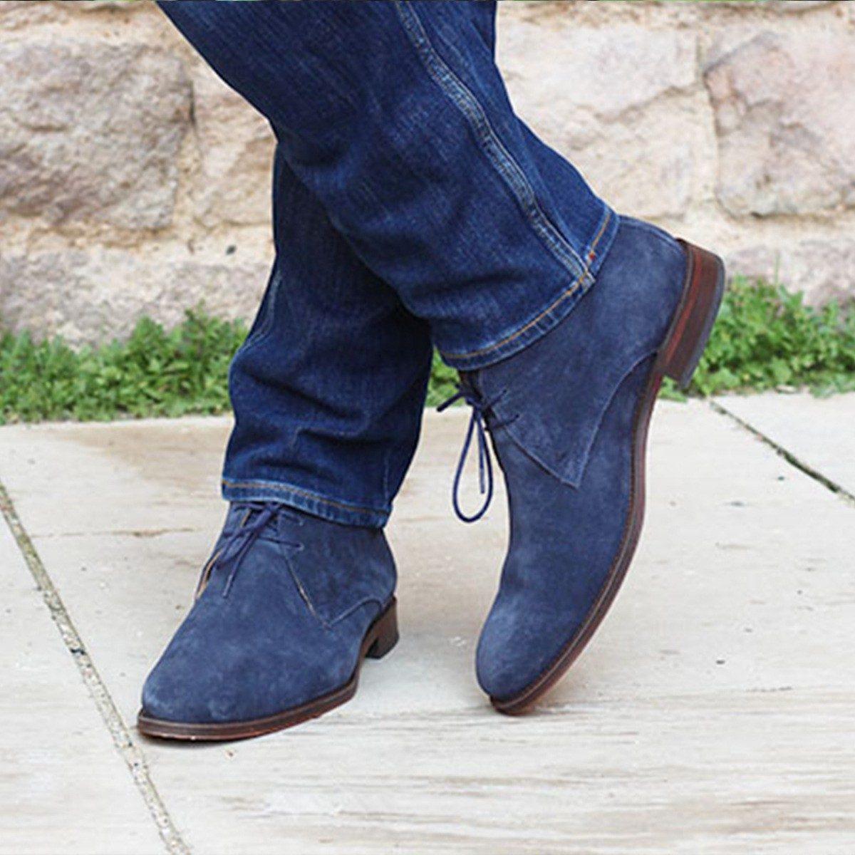 JULES & JENN - desert boots bleu