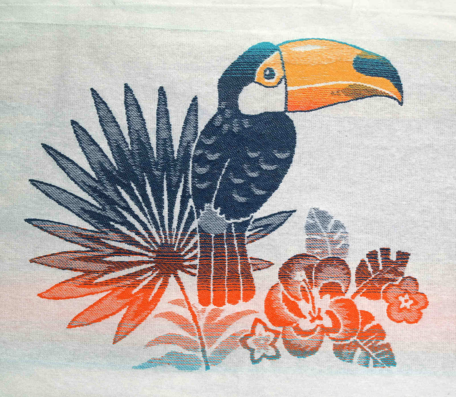 Bis Repetisac-Tote bag Bis Repetisac Toucan BlueOrangePetit