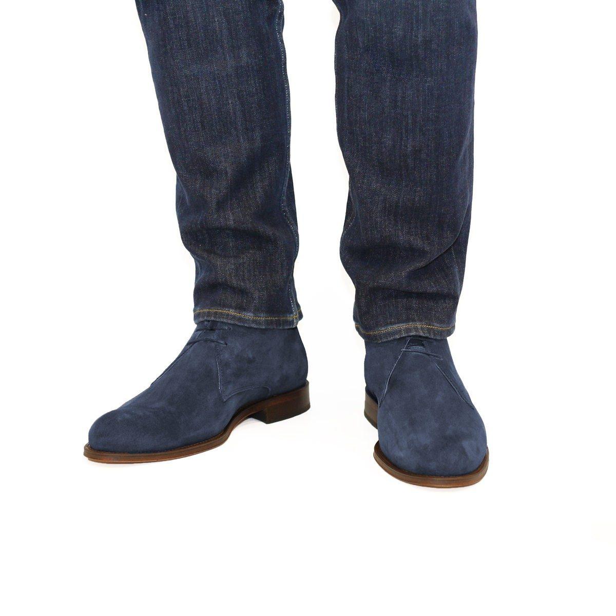 homme automne 2017 Jules et Jenn - desert boots cuir daim bleu