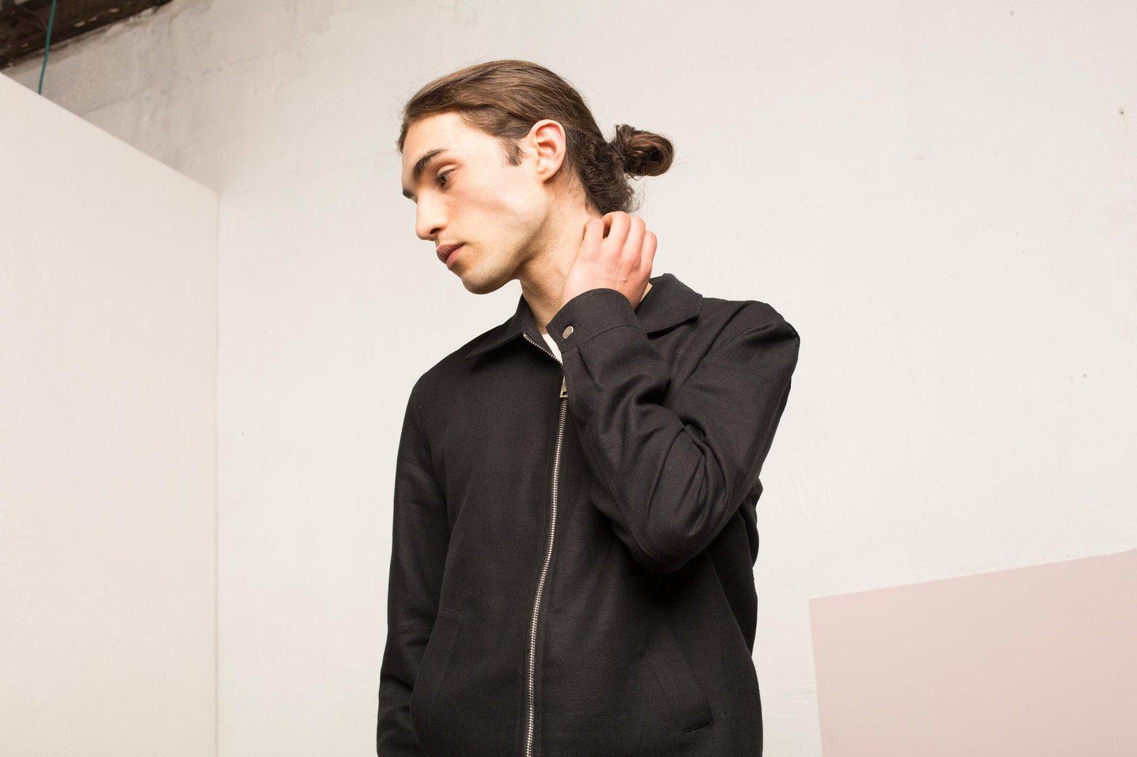 homme automne 2017 Noyoco - veste brighton noire homme close_up_2