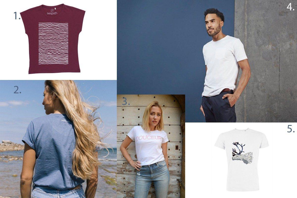 T-shirt eco-responsable-shopping tshirt éthique pas très cher