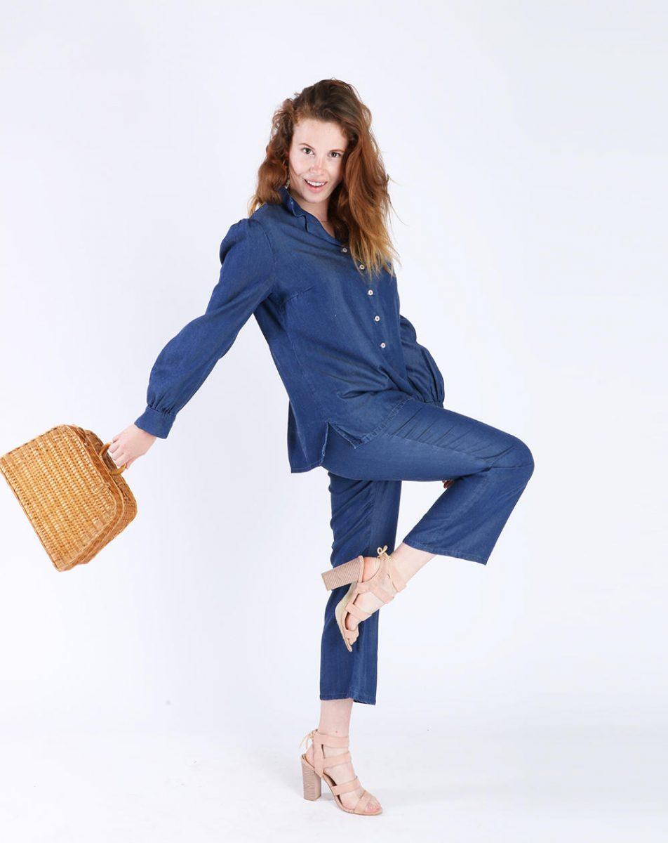 Aatise - chemisier zinty lyocell bleu look