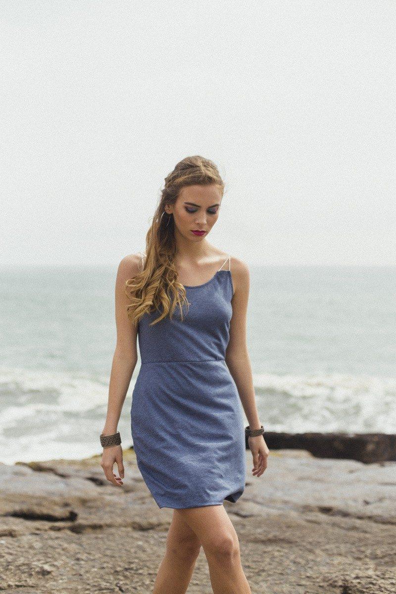 Bombon de Algodon - printemps 2018 - robe bleue - 1