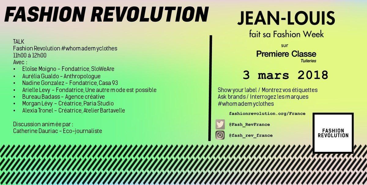 Conférence Fashion Revolution 2018