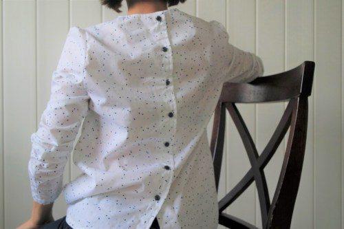 Laurie Raphalen -La Penderie des Graines de Paillettes - blouse - idylle - atelier - scammit