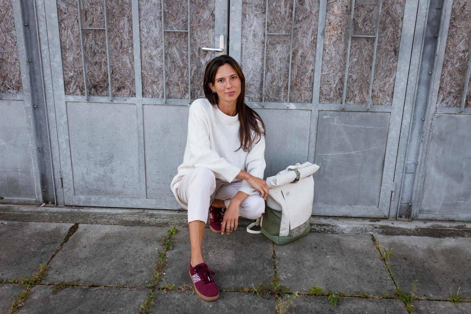 Ngo Shoes - Backpack - Blanc - recyclé - Sneakers - vegan - Bordeaux - Vietnam - femme