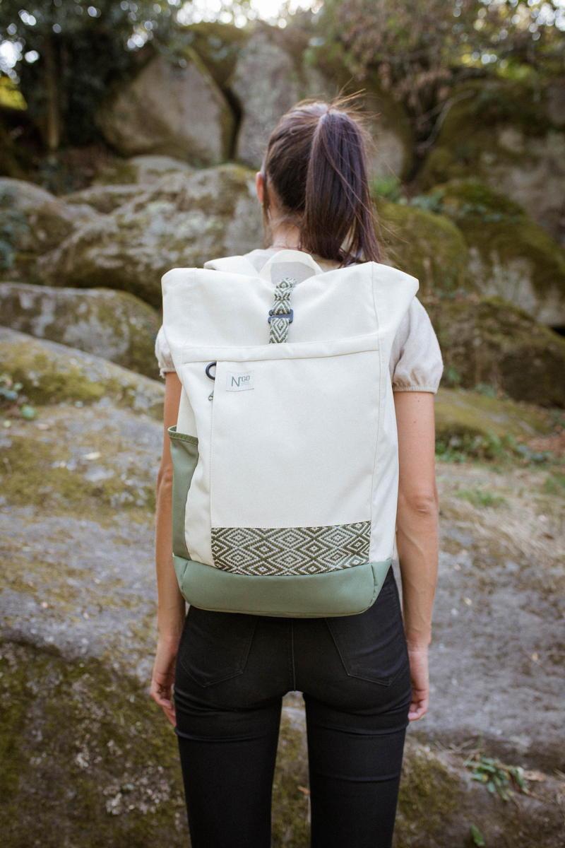Ngo Shoes - Backpack - Blanc - recyclé - Vegan - Vietnam - femme
