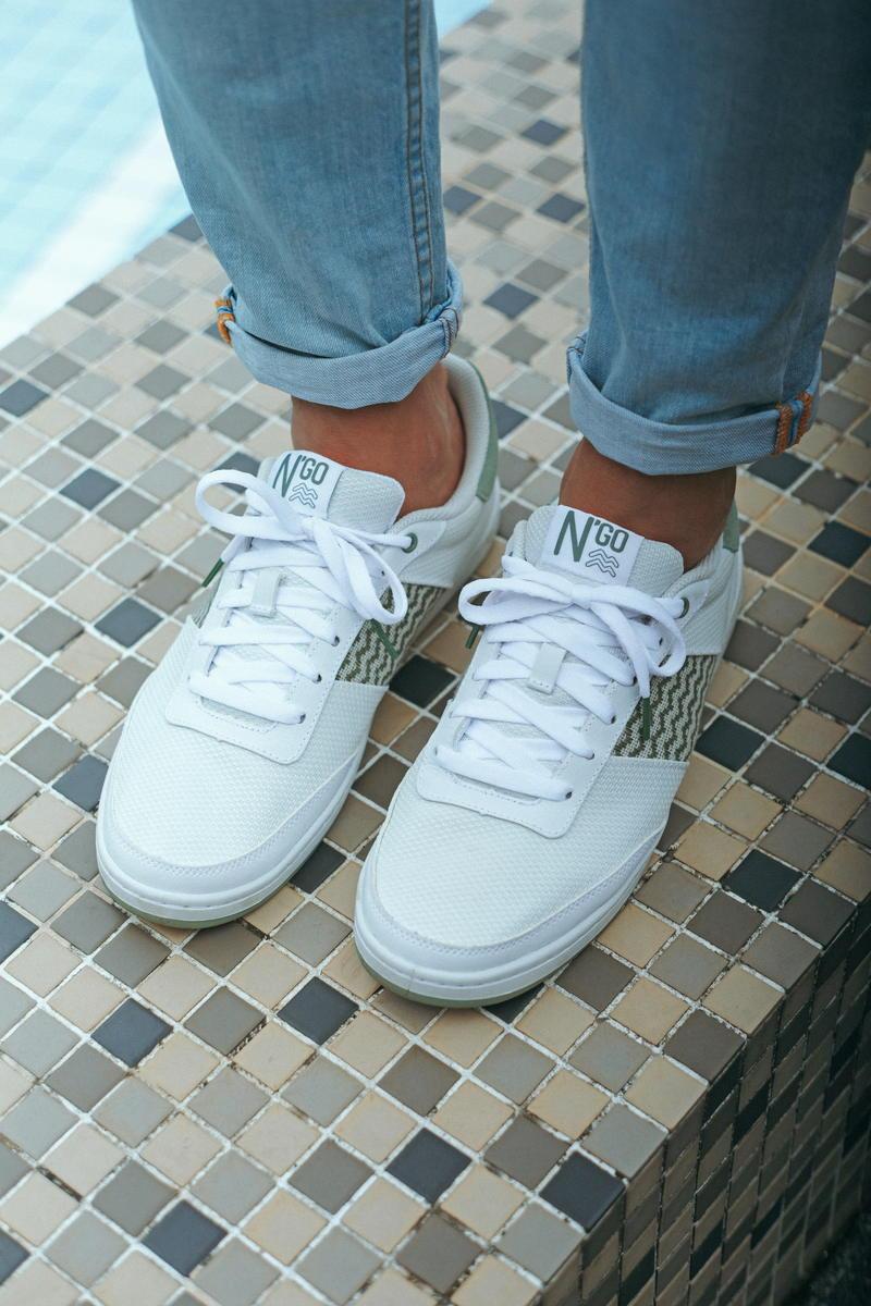 NgoShoes- Sneakers- Blanche - uniseexe -Vietnam- femme