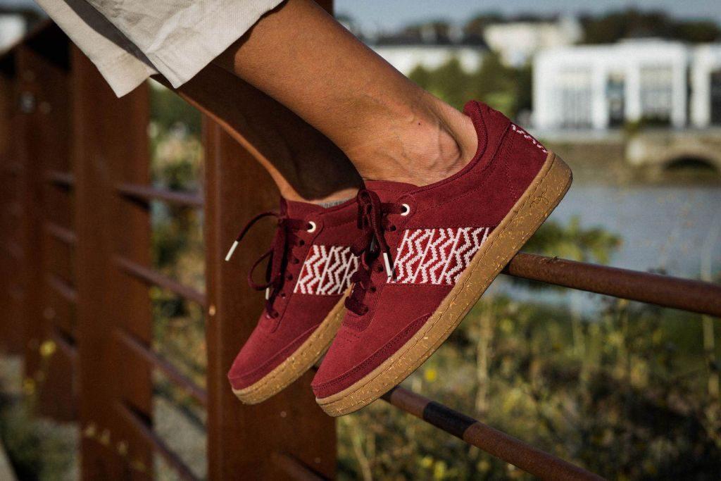 Aperçu - Ngo Shoes - Sneakers recyclées Vegan - Bordeaux - écoresponsable - fille