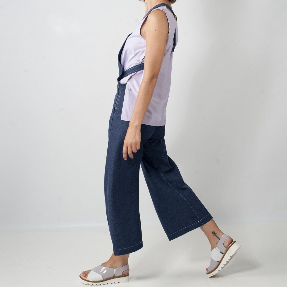 WYLDE - salopette jeans cote