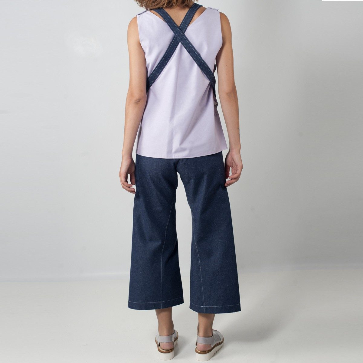 WYLDE - salopette jeans dos