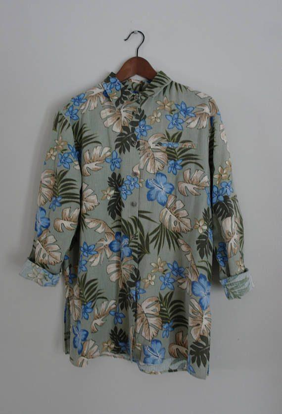 chemise à palmiers vintage - Lavender Luck Vintage