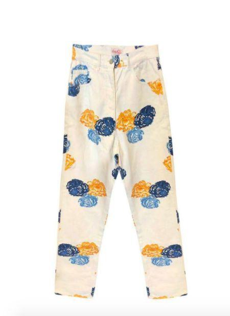 L'imparfaite Paris - Jeans à fleurs