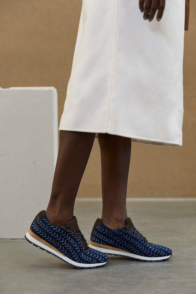 UMOJA - sneaker modele bogolan fini lepi indigo - CHARLAINE CROGUENNEC