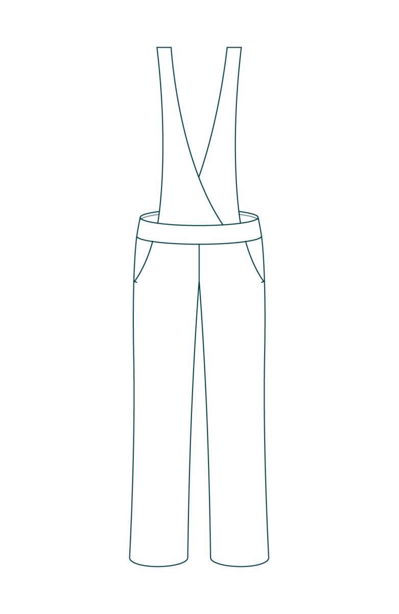 C.Bergamia - Pantalon-à-bretelles - Salopette-élégante - Modèle-Le-Formidable