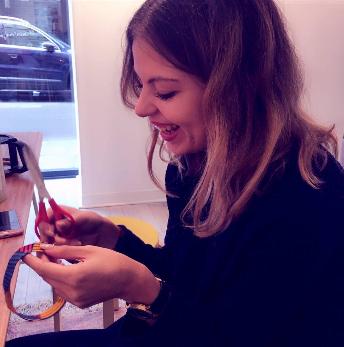 Soo Mee - atelier creatif - creation de collier avec des chutes