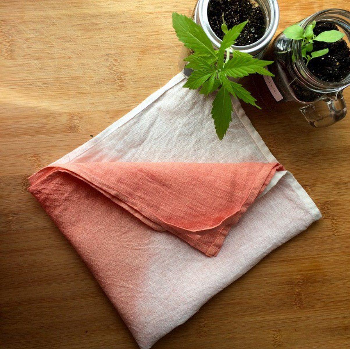 Teinture vegetale - Fibre Bio - foulard teint