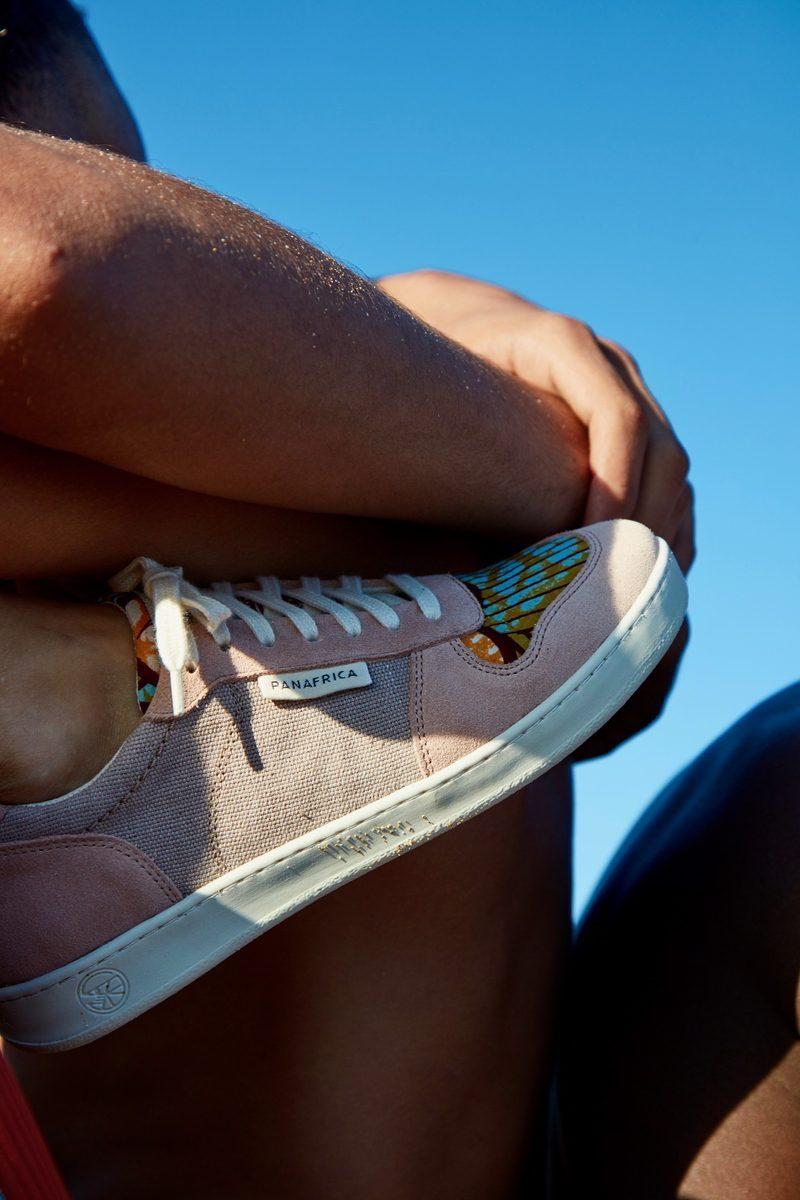 PANAFRICA- modèle Sahara - sneaker en coton tissé afrikatiss et cuir