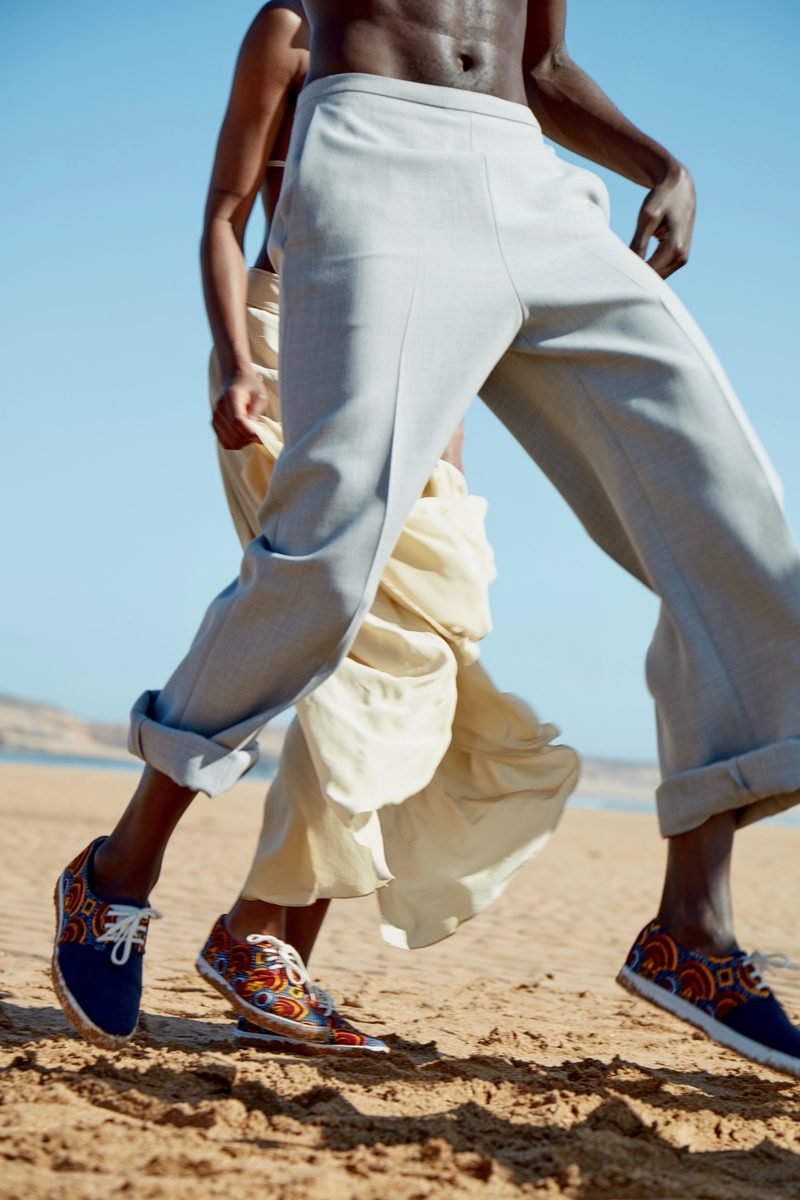 PANAFRICA- modèle Tomboutou - basket en coton recyclé GRS et véritable wax