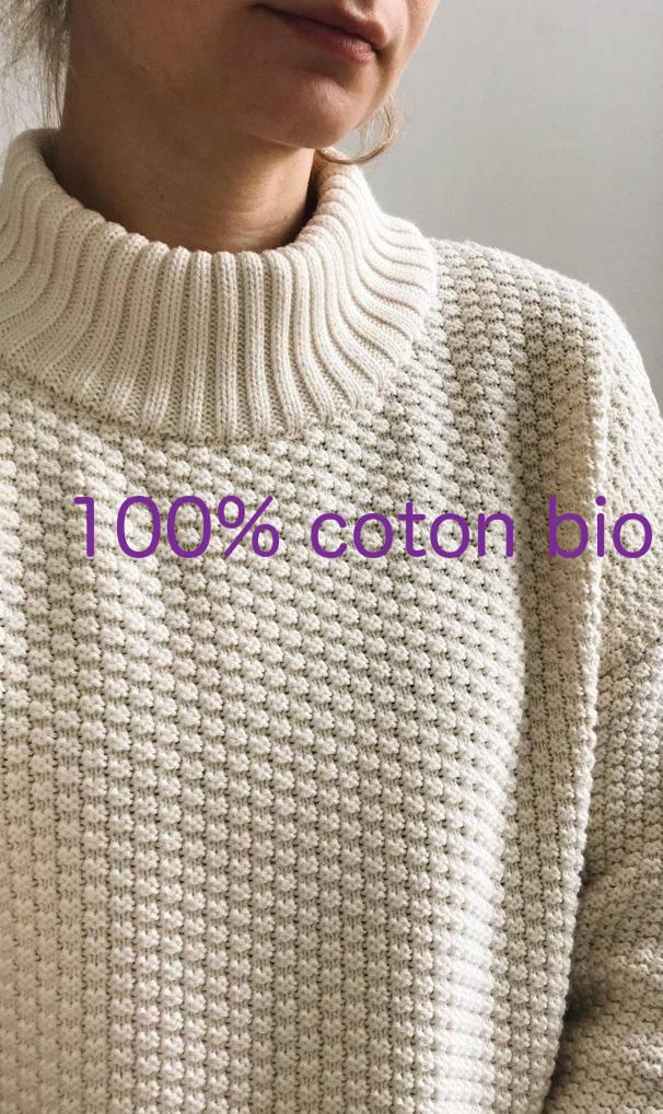 Mila vert - pull ethique eco responsable coton bio sloweare