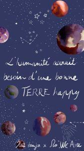 Terre Happy - Bleu-Tango X SloWeAre - portrait