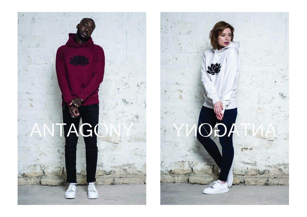 antagony-paris-sweat hoodie coton biologique certifié GOTS-modèle gael-copyright Florian Saez
