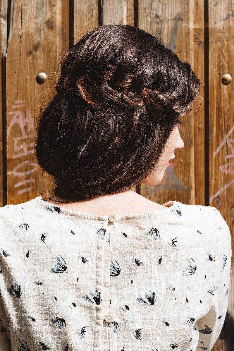 Atelier Unes - blouse celeste pissenlit