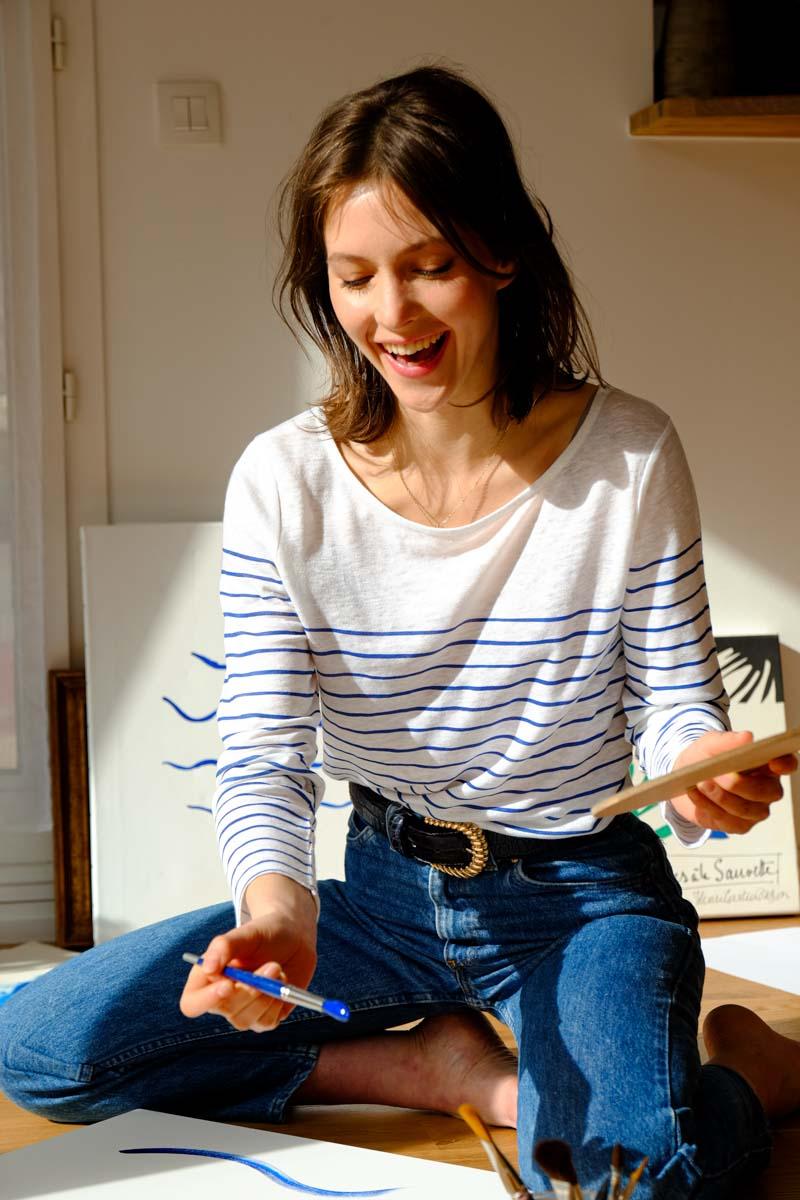 Atelier Unes - La Mariniere en lin français