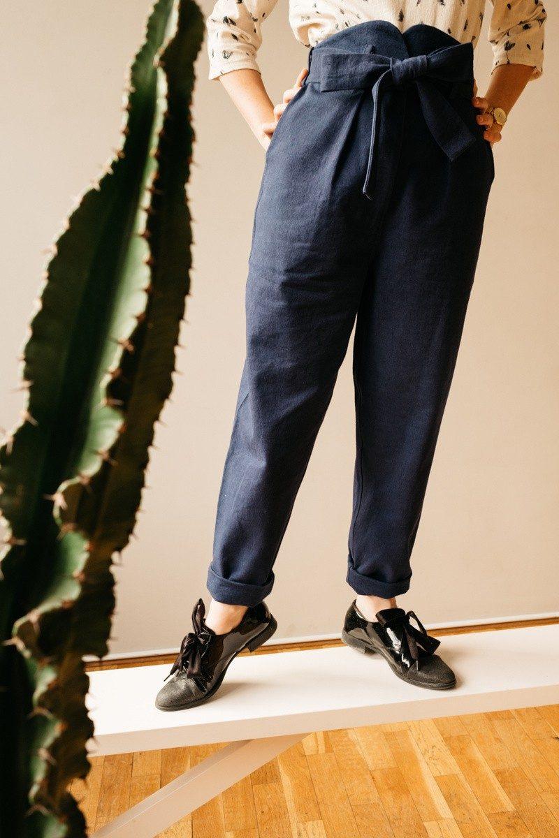 Atelier Unes Pantalon Taille Haute - pied -2