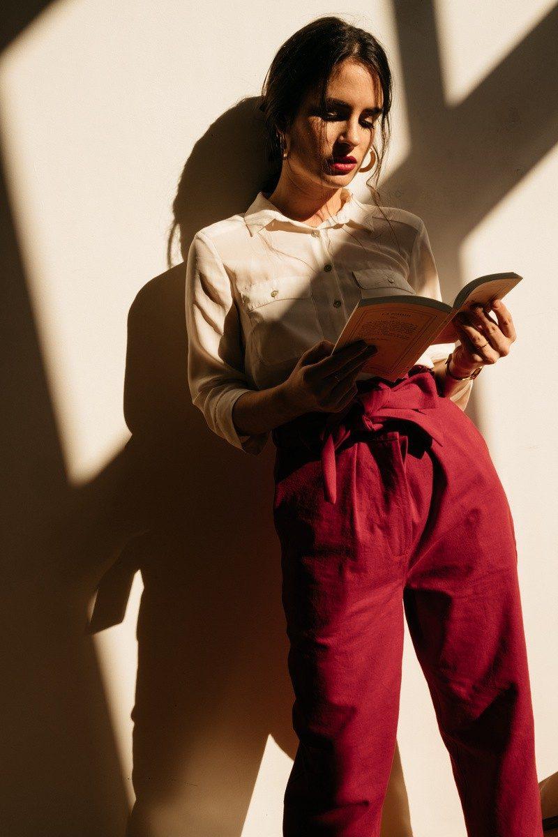 Atelier Unes Pantalon Taille Haute - rouge -6