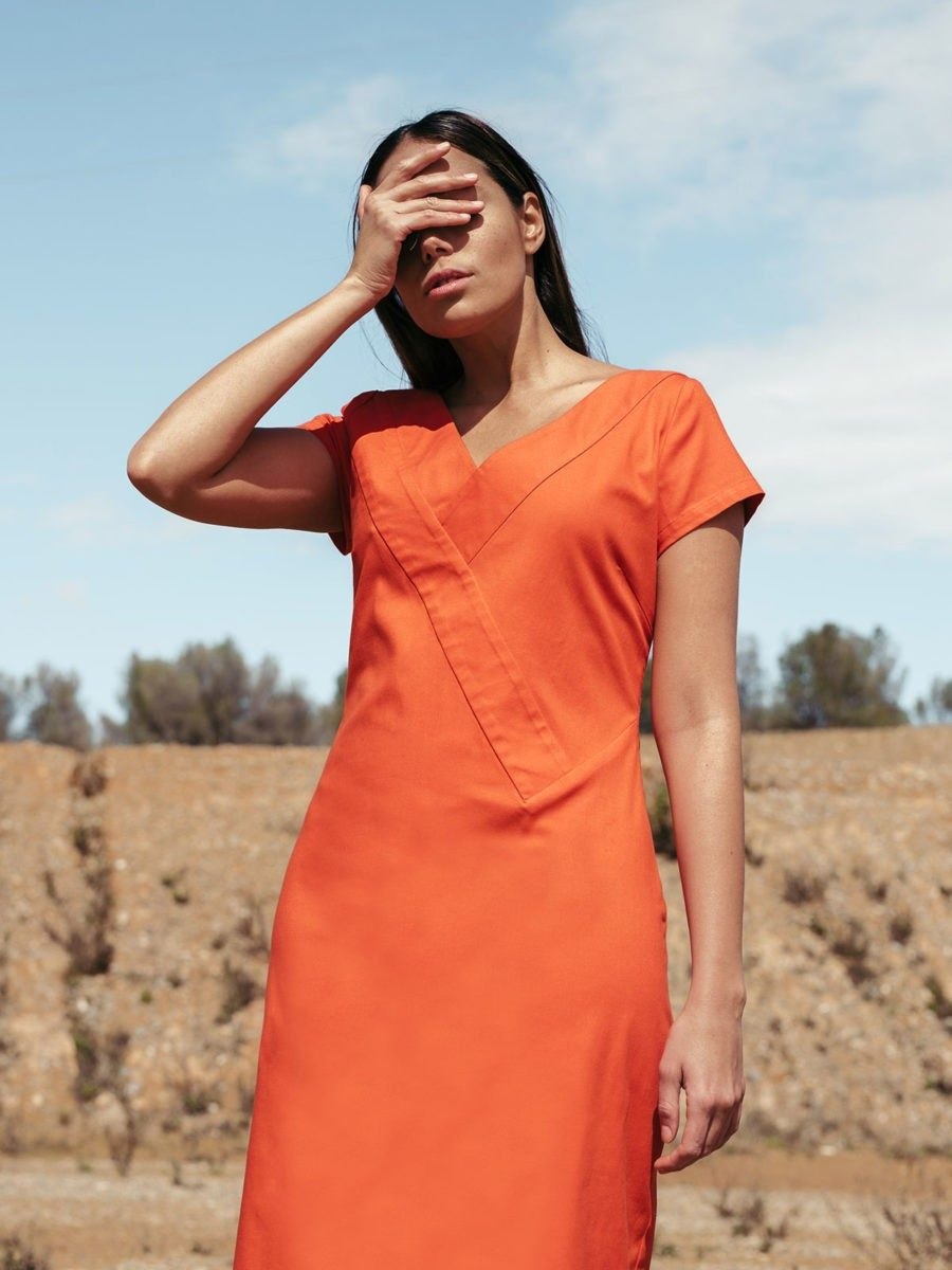 SKFK - COTTON ORANGE DRESS - robe UGUZNE