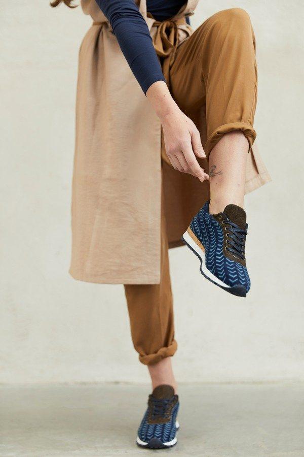 UMOJA-Basket lépi en coton bio tissé à la main teinture naturelle indigo-modele Maxi 2 - CHARLAINE CROGUENNEC