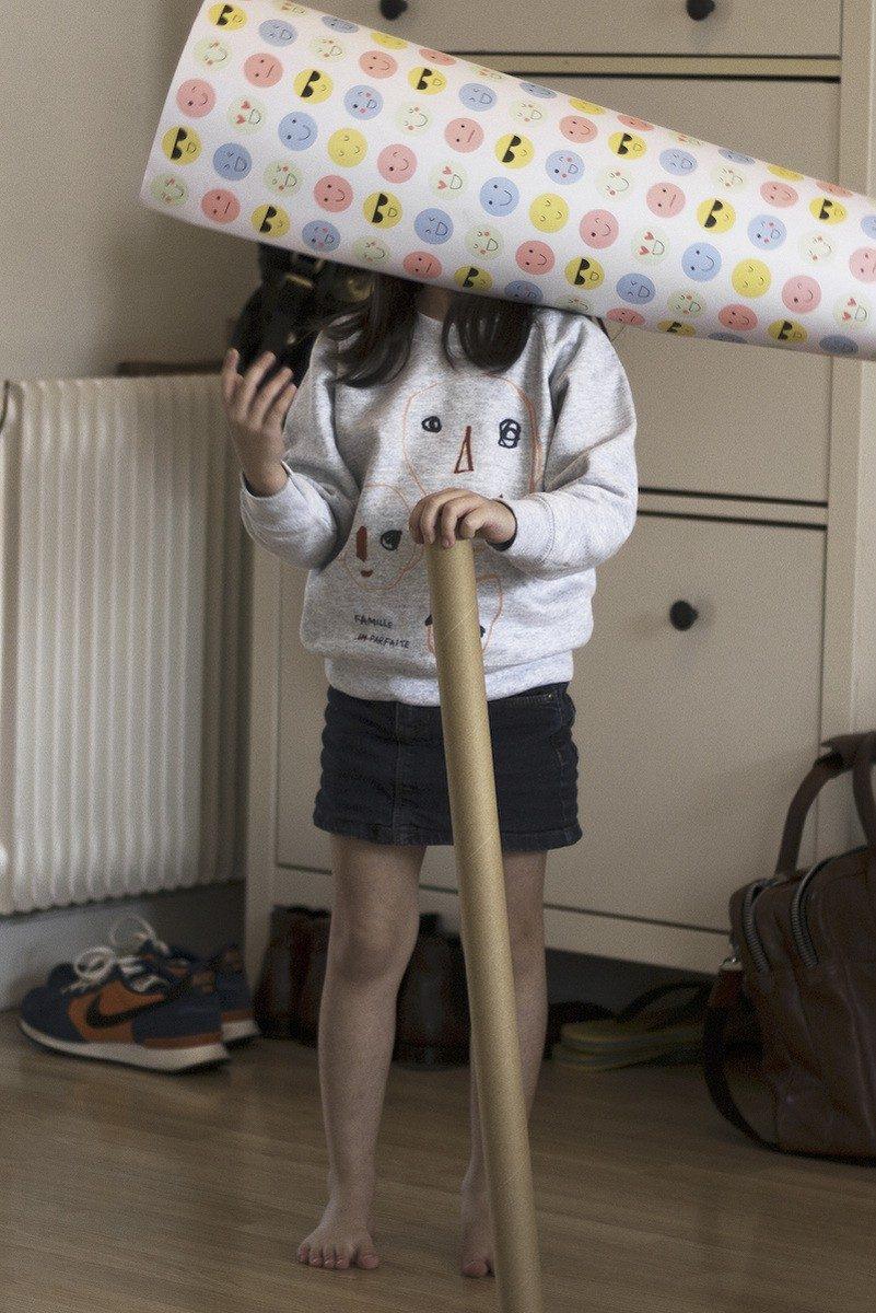 Bonnefamilles - sweat enfant gris chiné coton biologique GOTS - modèle têtes famille imparfaite - 33