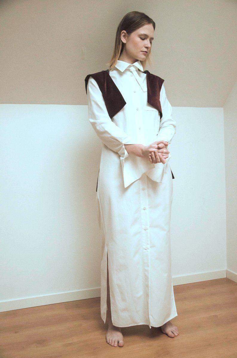 WYLDE - robe chemise en coton recyclé re