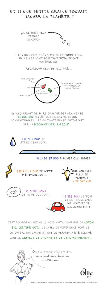 Olly Infographie coton bio