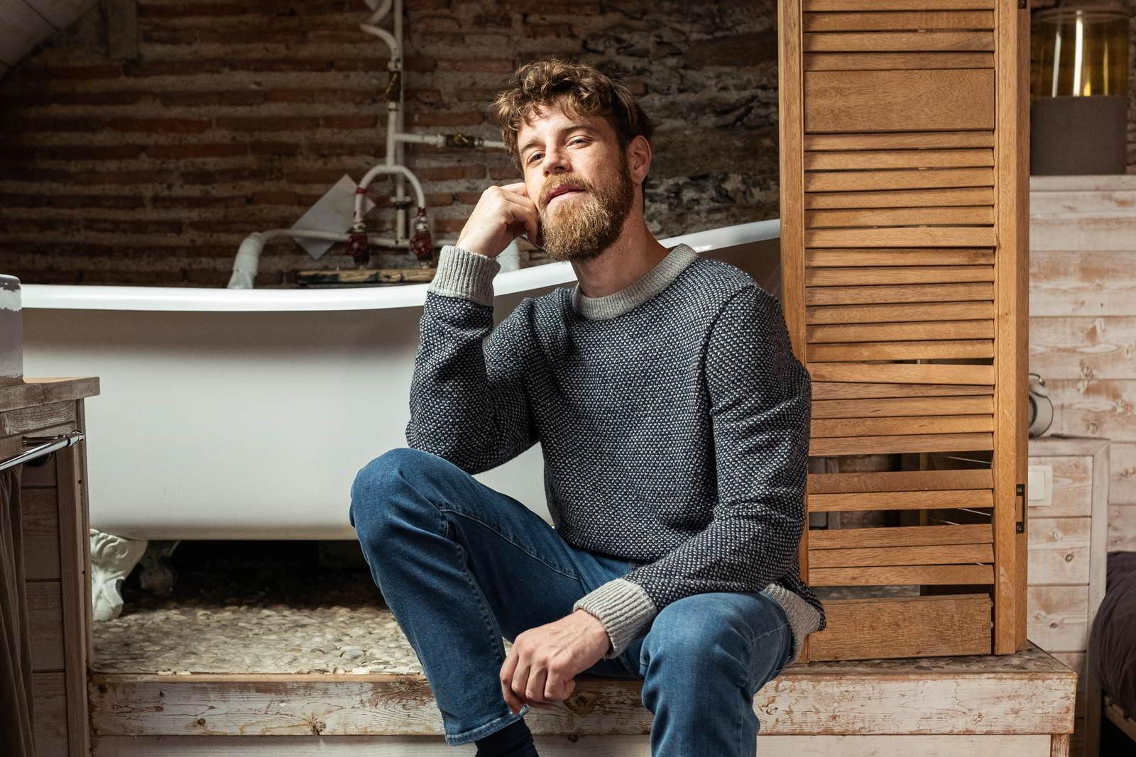Montlimart ALENTOUR pull made in france pour homme recyclé écologique laine marine