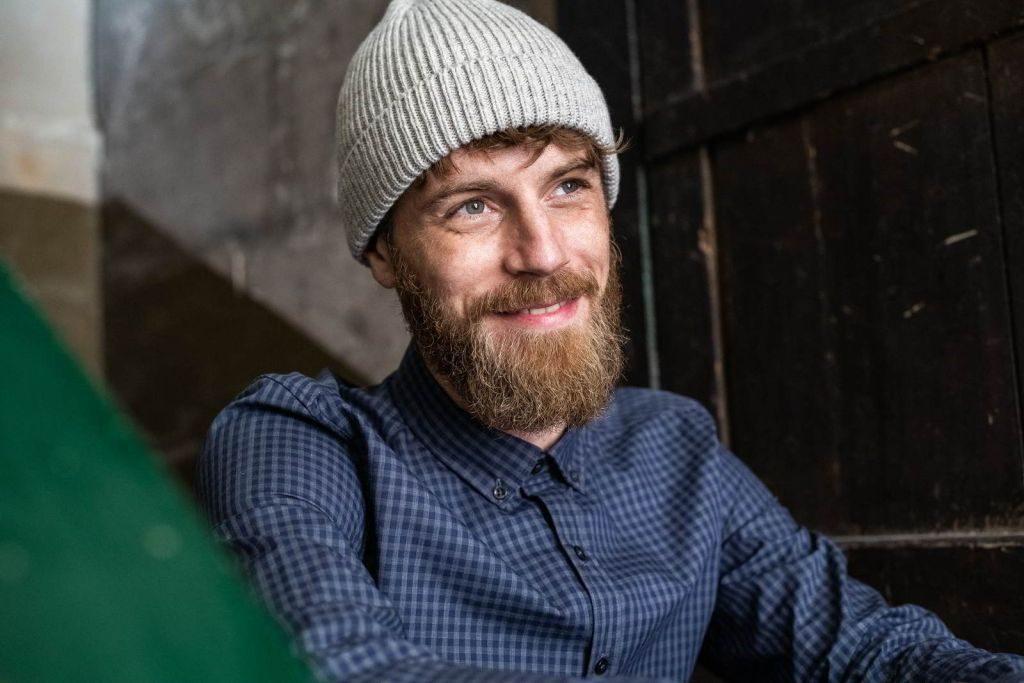 Montlimart PRAPOUTEL bonnet homme laine recyclé gris made in France