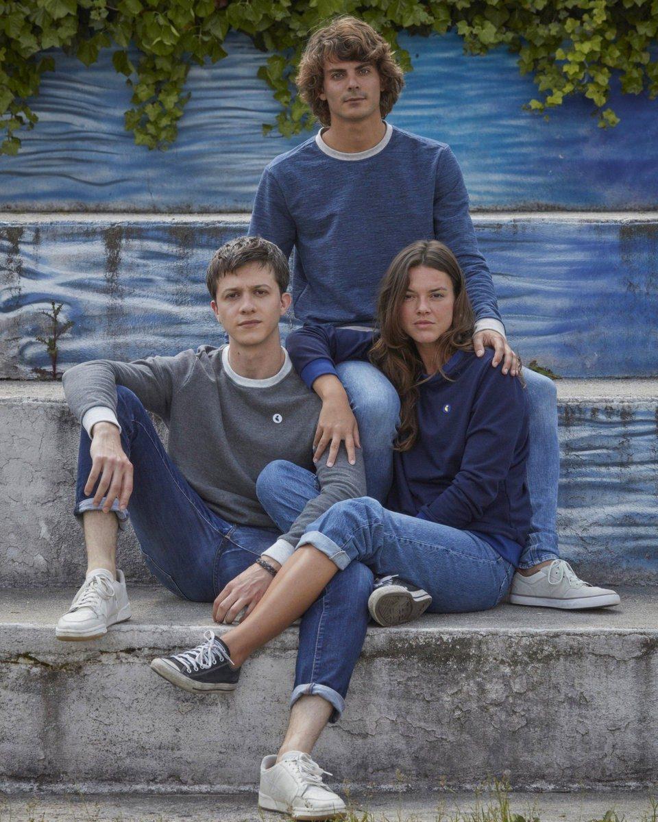 Ecclo - Sweat Pull Homme et femme coton upcyclé Made in France édition limitée - modèle col rond bleu HSSR-01 gris HSSR-02 bleu FSSR-02