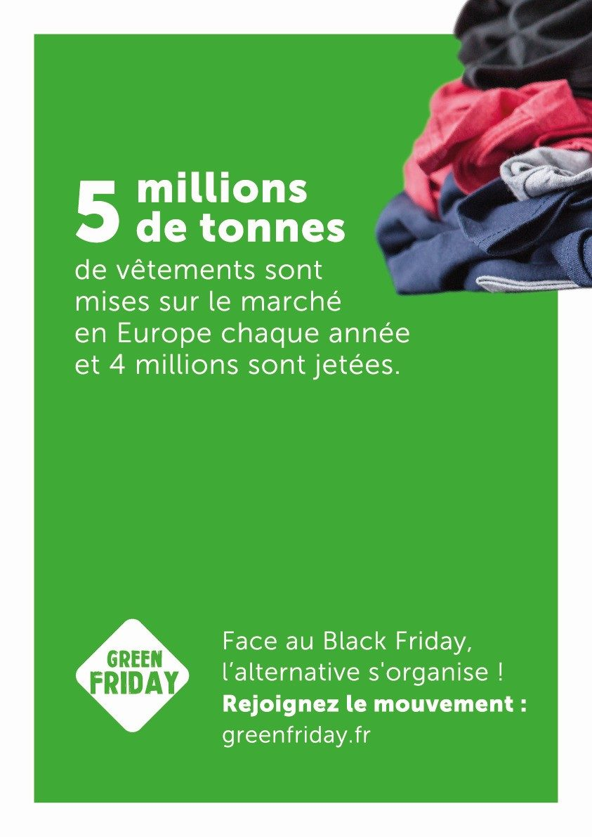 Green Friday 5 millions de tonnes de vêtements