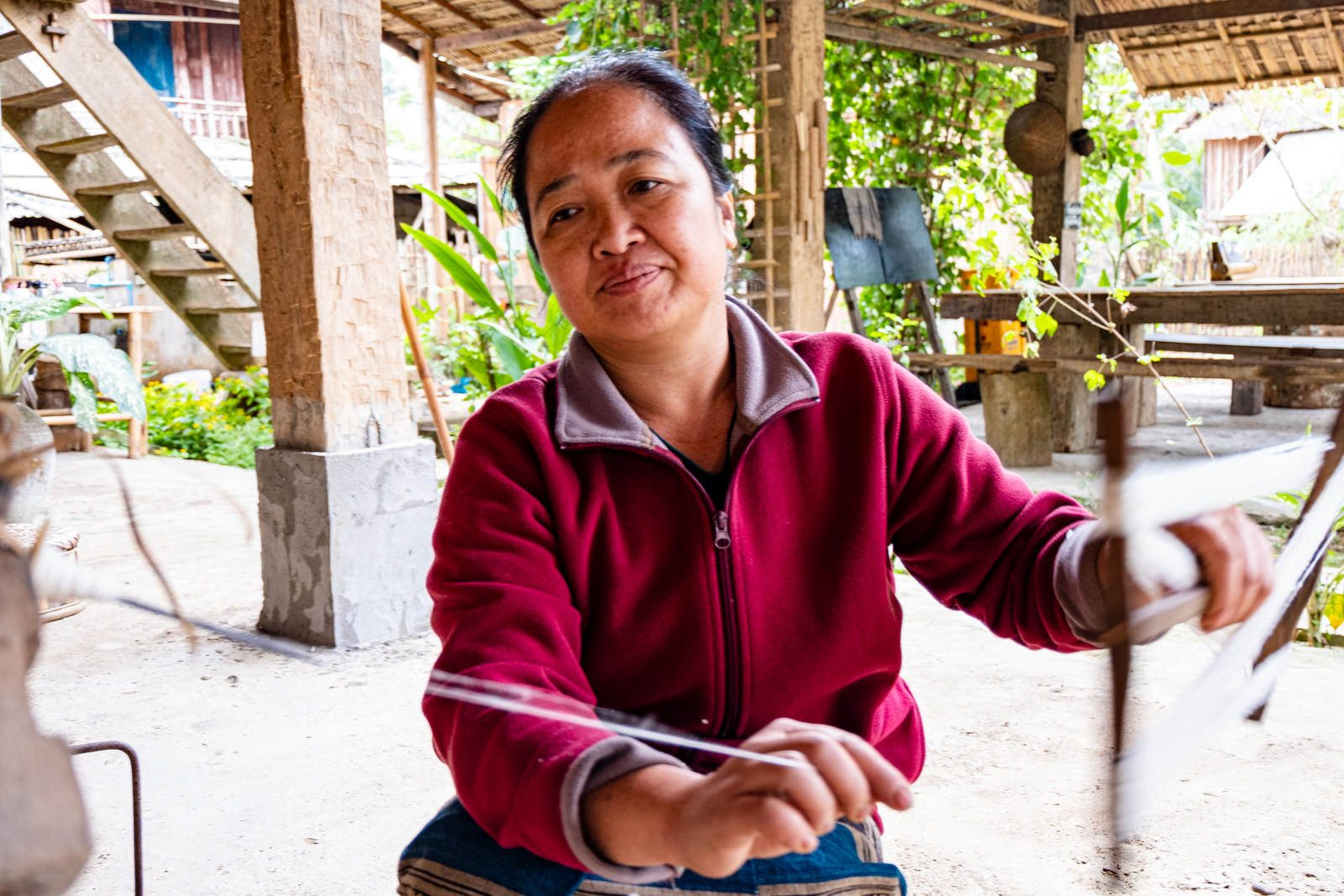 Aude Schaeffer - Muudana - Confidences d une créatrice inspirante — Artisane Tissage Manuel Cambodge Laos