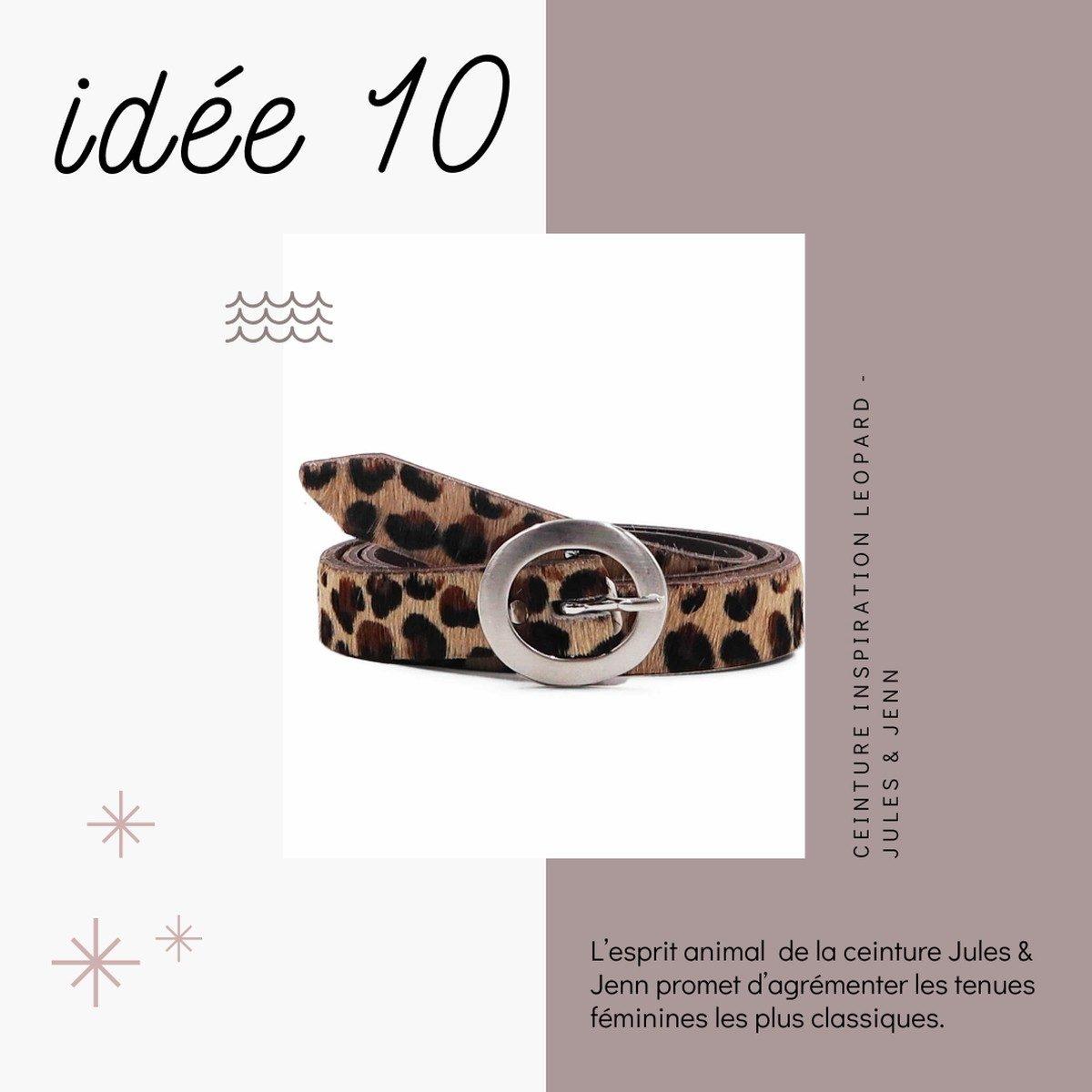 Idées de cadeaux slow fashion et déco à prix doux pour Noël - ceinture Made in France - Jules Jenn