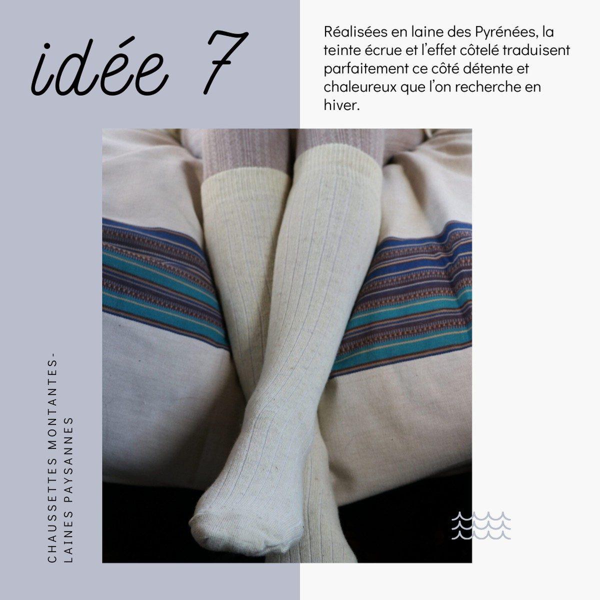 Idées de cadeaux slow fashion et déco à prix doux pour Noël - Chaussettes -laines made in France - Laines Paysannes
