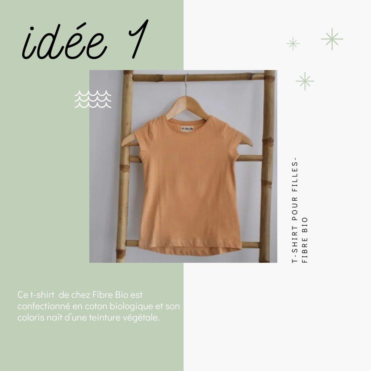 Idées de cadeaux slow fashion et déco à prix doux pour Noël - T-shirt coton bio - Fibre Bio