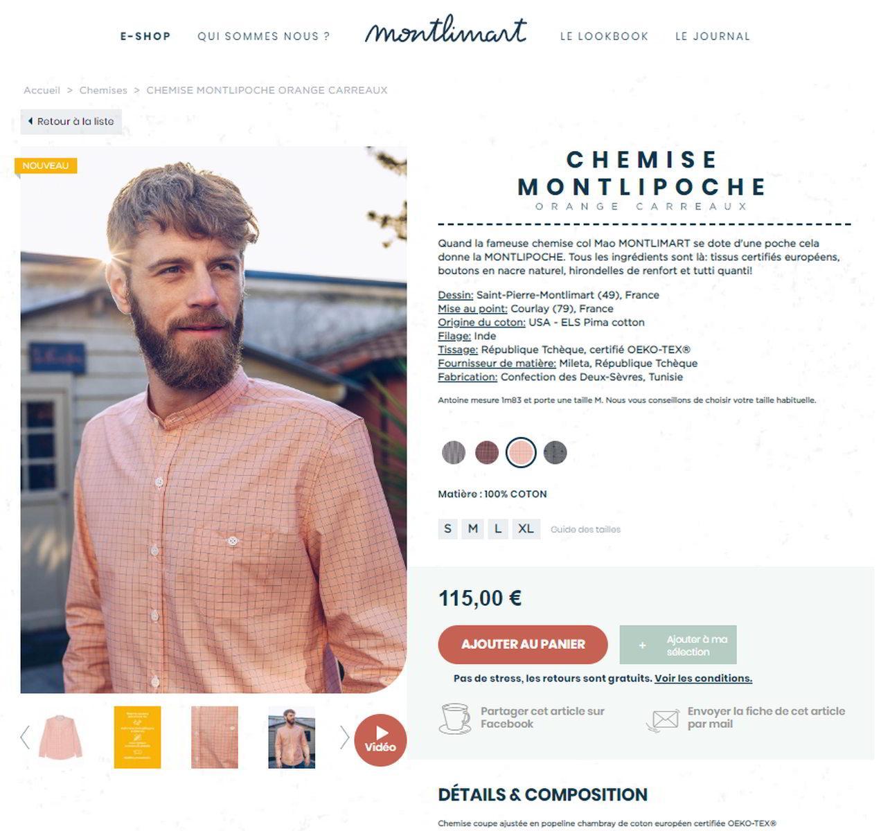 Montlimart fiche produit- Chemise Montlipoche