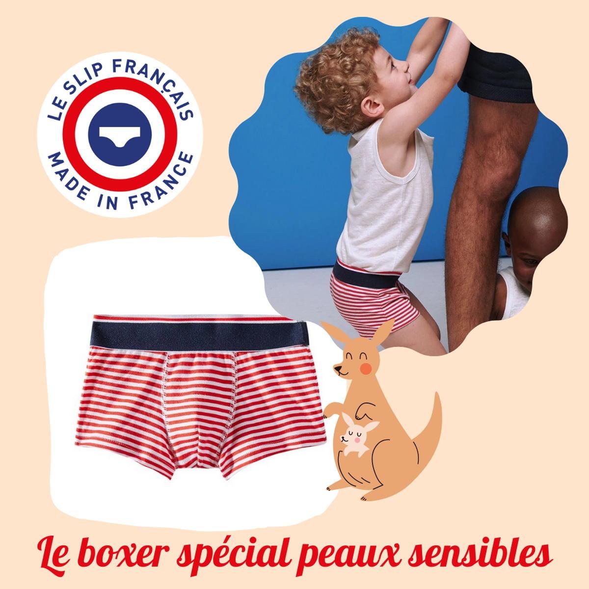 SloWeAre - 6 idées pour habiller les enfants - éco-responsble - boxer - garçon - coton - Made in France.